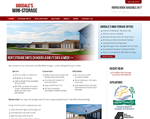 Goodale's Mini-Storage Launches New Website